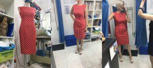 Фото коллаж платье простого кроя а-силуэт