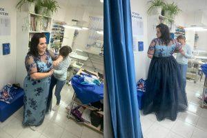 Фото коллаж вечернее платье для пышных дам