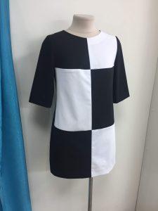 Шахматное короткое платье Краснодар