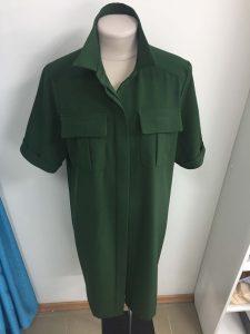 """Зеленое платье сшитое на заказ в ателье """"Новый образ"""""""