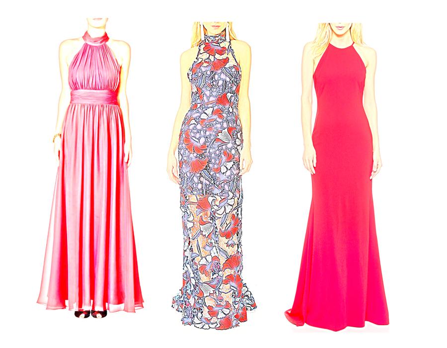 На иллюстрации вечернее платье с американской проймой