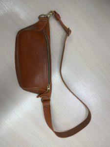 """На фото кожаная сумка на пояс сделанная в ателье """"Новый образ"""" г. Краснодар"""